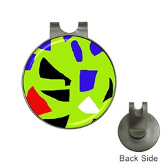 Green abstraction Hat Clips with Golf Markers
