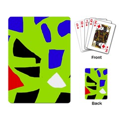 Green abstraction Playing Card