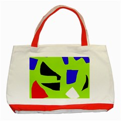 Green abstraction Classic Tote Bag (Red)