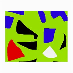 Green abstraction Small Glasses Cloth (2-Side)