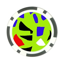 Green abstraction Poker Chip Card Guards