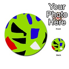 Green Abstraction Multi Purpose Cards (round)