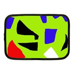 Green abstraction Netbook Case (Medium)
