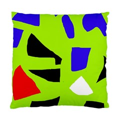 Green abstraction Standard Cushion Case (One Side)