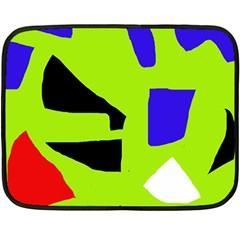 Green abstraction Double Sided Fleece Blanket (Mini)