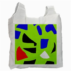 Green abstraction Recycle Bag (One Side)