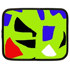 Green abstraction Netbook Case (XL)
