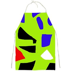 Green abstraction Full Print Aprons