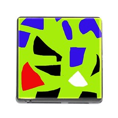Green abstraction Memory Card Reader (Square)