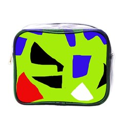 Green abstraction Mini Toiletries Bags