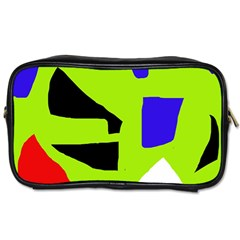 Green abstraction Toiletries Bags 2-Side