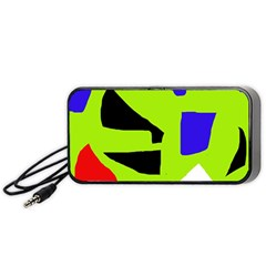 Green abstraction Portable Speaker (Black)