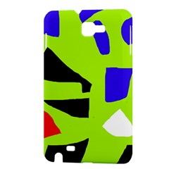 Green abstraction Samsung Galaxy Note 1 Hardshell Case