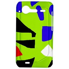 Green abstraction HTC Incredible S Hardshell Case