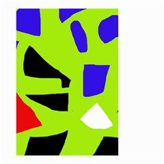 Green abstraction Small Garden Flag (Two Sides)