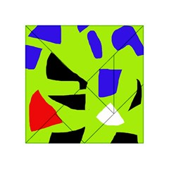 Green abstraction Acrylic Tangram Puzzle (4  x 4 )
