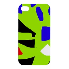 Green abstraction Apple iPhone 4/4S Premium Hardshell Case