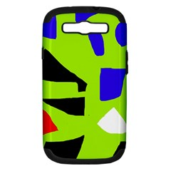 Green abstraction Samsung Galaxy S III Hardshell Case (PC+Silicone)