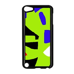 Green abstraction Apple iPod Touch 5 Case (Black)