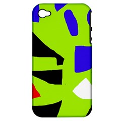 Green abstraction Apple iPhone 4/4S Hardshell Case (PC+Silicone)