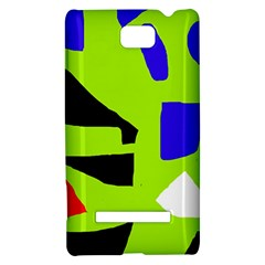 Green abstraction HTC 8S Hardshell Case