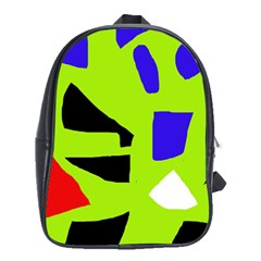Green abstraction School Bags (XL)