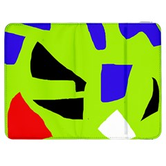 Green abstraction Samsung Galaxy Tab 7  P1000 Flip Case