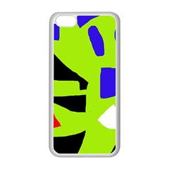 Green abstraction Apple iPhone 5C Seamless Case (White)