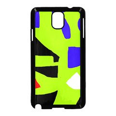 Green abstraction Samsung Galaxy Note 3 Neo Hardshell Case (Black)
