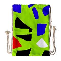 Green abstraction Drawstring Bag (Large)