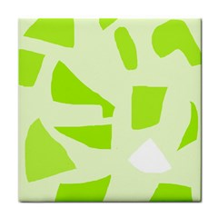 Green abstract design Tile Coasters
