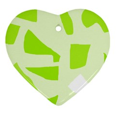 Green abstract design Ornament (Heart)