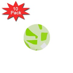 Green abstract design 1  Mini Buttons (10 pack)