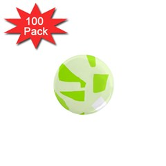 Green abstract design 1  Mini Magnets (100 pack)