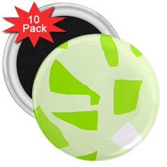 Green abstract design 3  Magnets (10 pack)