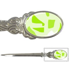 Green abstract design Letter Openers