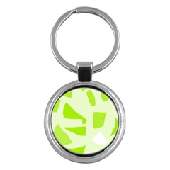 Green abstract design Key Chains (Round)