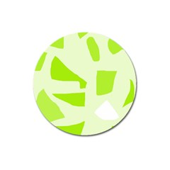 Green abstract design Magnet 3  (Round)