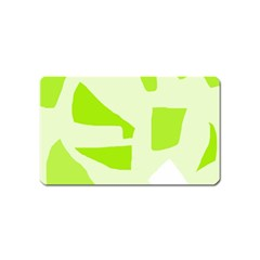 Green abstract design Magnet (Name Card)