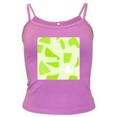 Green abstract design Dark Spaghetti Tank