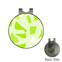 Green abstract design Hat Clips with Golf Markers