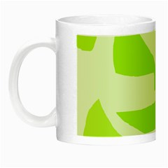 Green abstract design Night Luminous Mugs