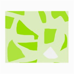 Green abstract design Small Glasses Cloth