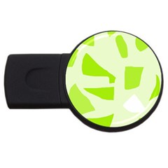 Green abstract design USB Flash Drive Round (4 GB)