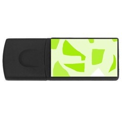 Green abstract design USB Flash Drive Rectangular (4 GB)
