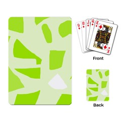 Green abstract design Playing Card