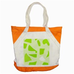 Green abstract design Accent Tote Bag