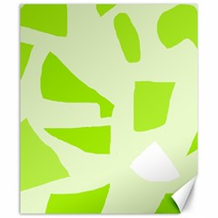 Green abstract design Canvas 20  x 24