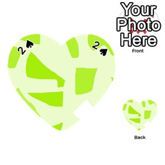 Green Abstract Design Playing Cards 54 (heart)