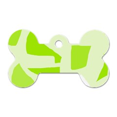 Green abstract design Dog Tag Bone (Two Sides)